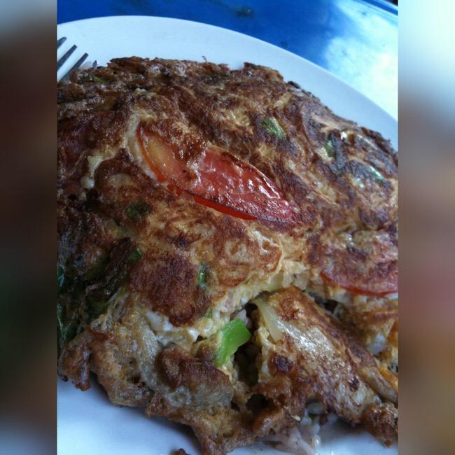 忘れられない味。タイのベジタブルオムレツ作り方適当で作ってみた!