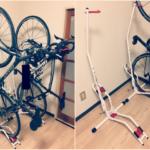 クロスバイク室内縦置きスタンド