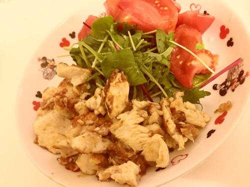 「妊婦」減塩・低カロリー鶏胸肉レシピ!の生姜と鰹節焼き