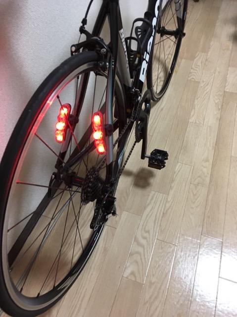 ロードバイク車幅ライト