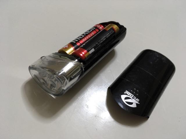 ロードバイクライト乾電池