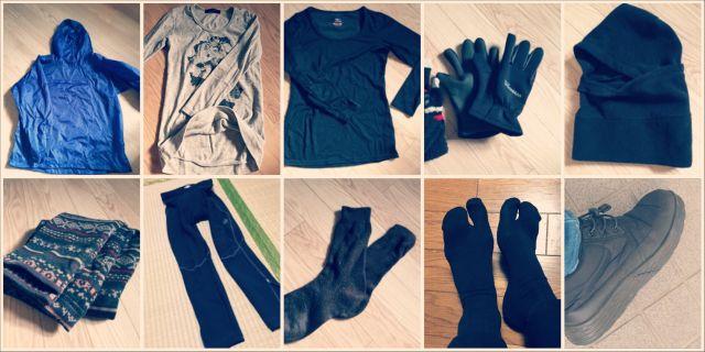 ロードバイク冬服装