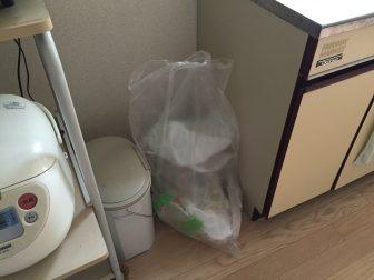 ビニール直置き。ゴミ箱はいらない